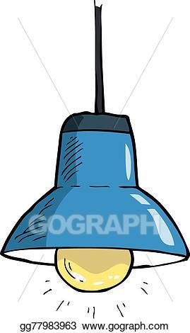 Vector illustration light eps. Lamp clipart ceiling lamp