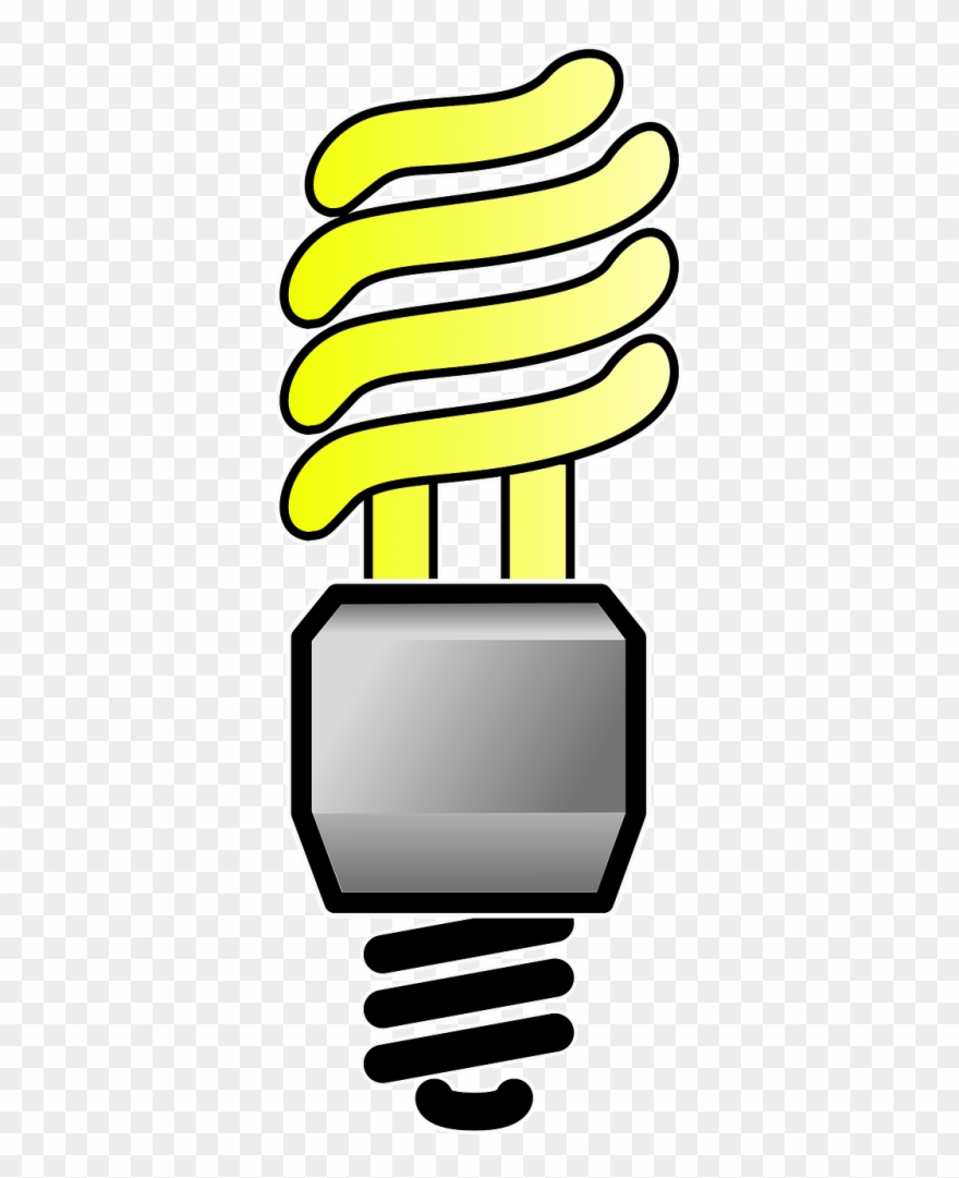 Electric compact fluorescent light. Lamp clipart cfl bulb