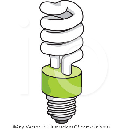 Light black and white. Lamp clipart cfl bulb