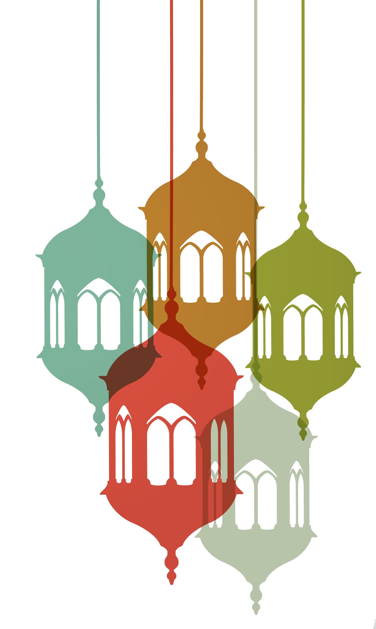 Ramadan islam al fitr. Lamp clipart eid