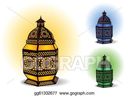 Lamp clipart eid. Vector islamic for ramadan
