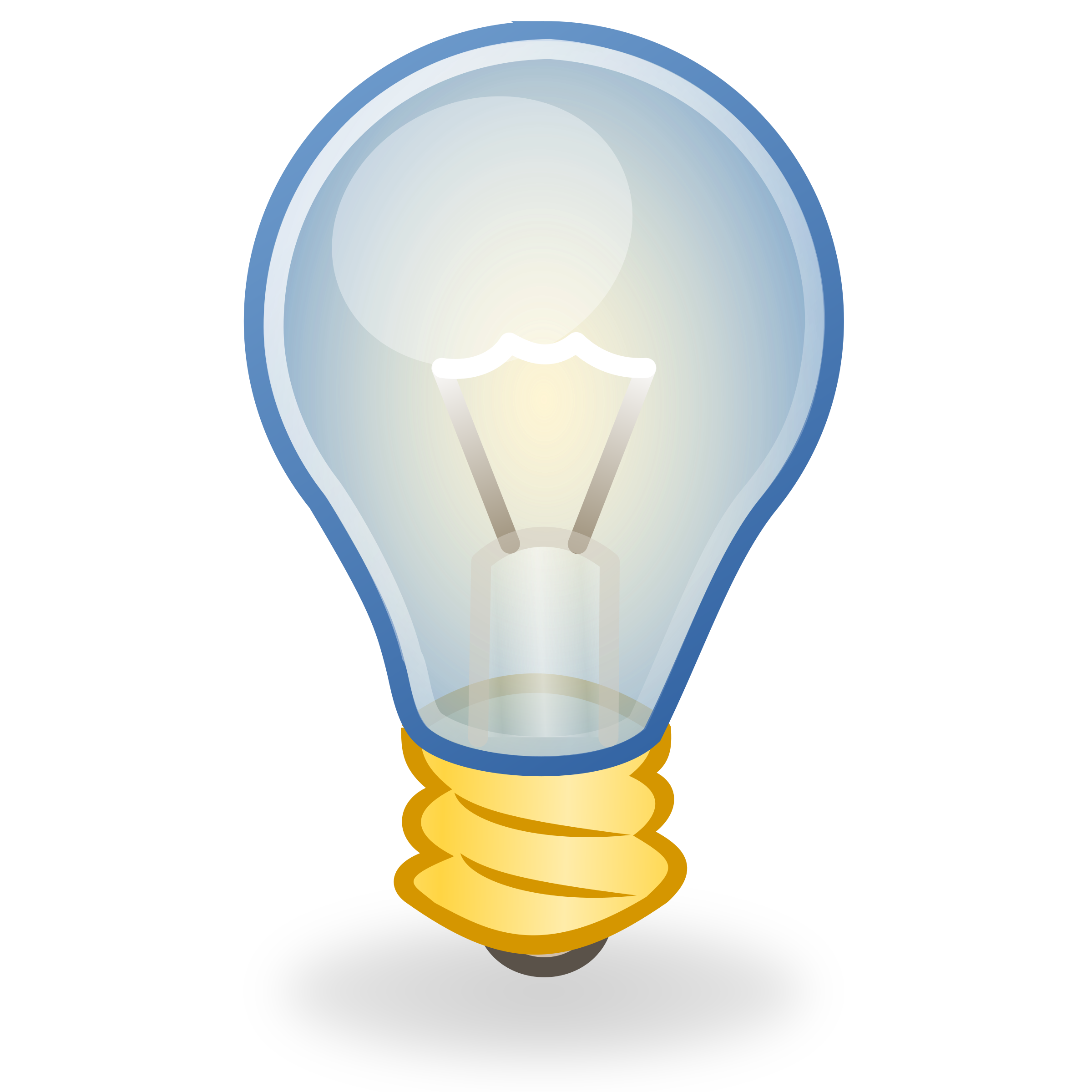 Thoughts clipart buld. Light bulb icon big