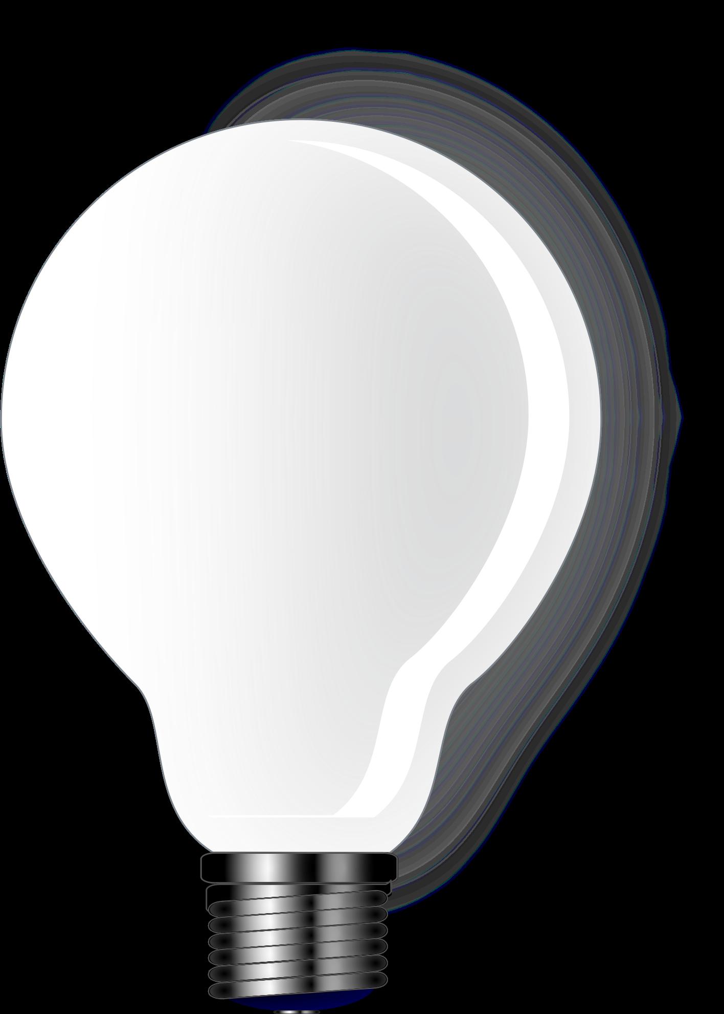 Basic light bulb big. Lamp clipart flourescent lamp