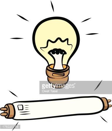 Lamp clipart flourescent lamp. Light bulb and fluorescent