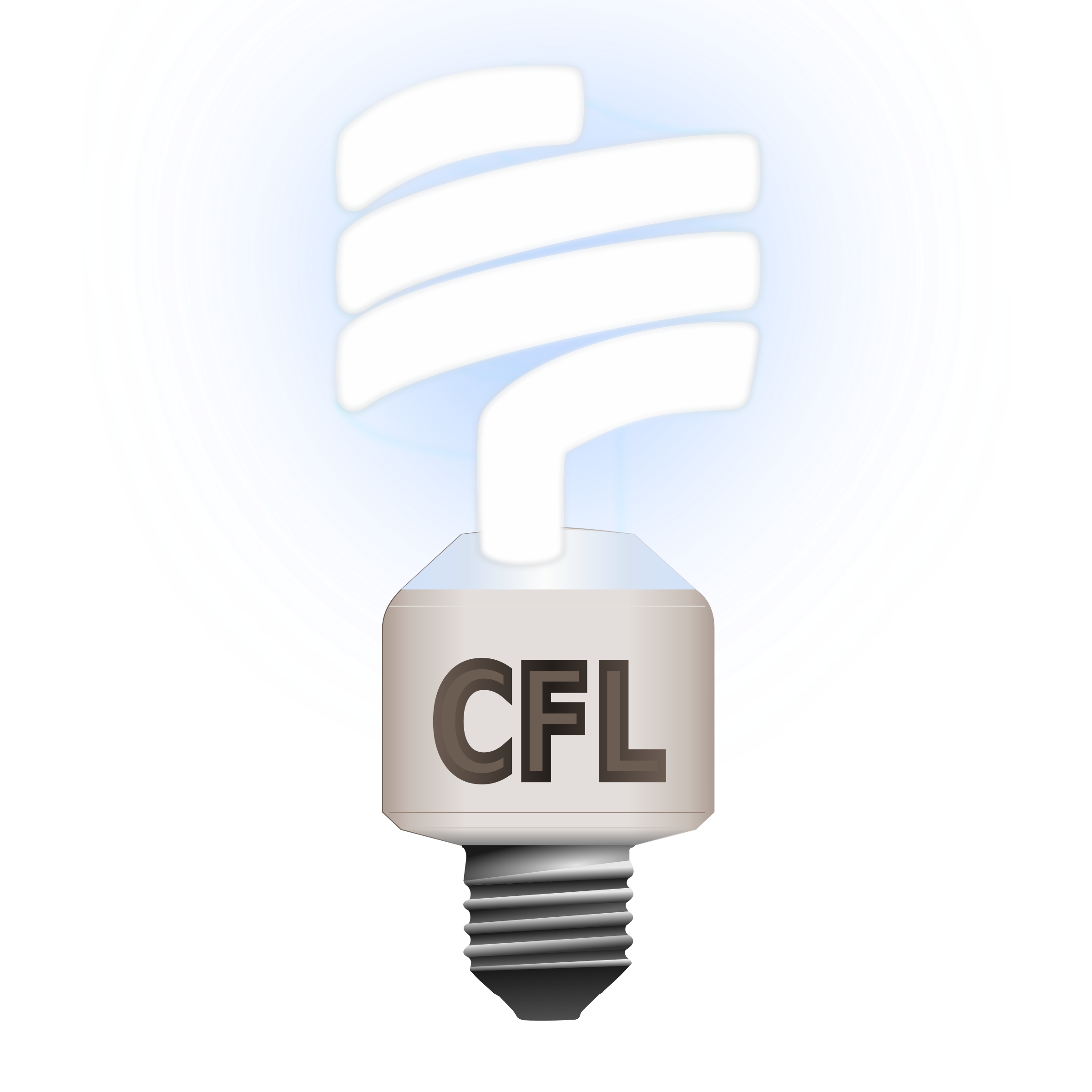 Lamp clipart fluorescent. Compact