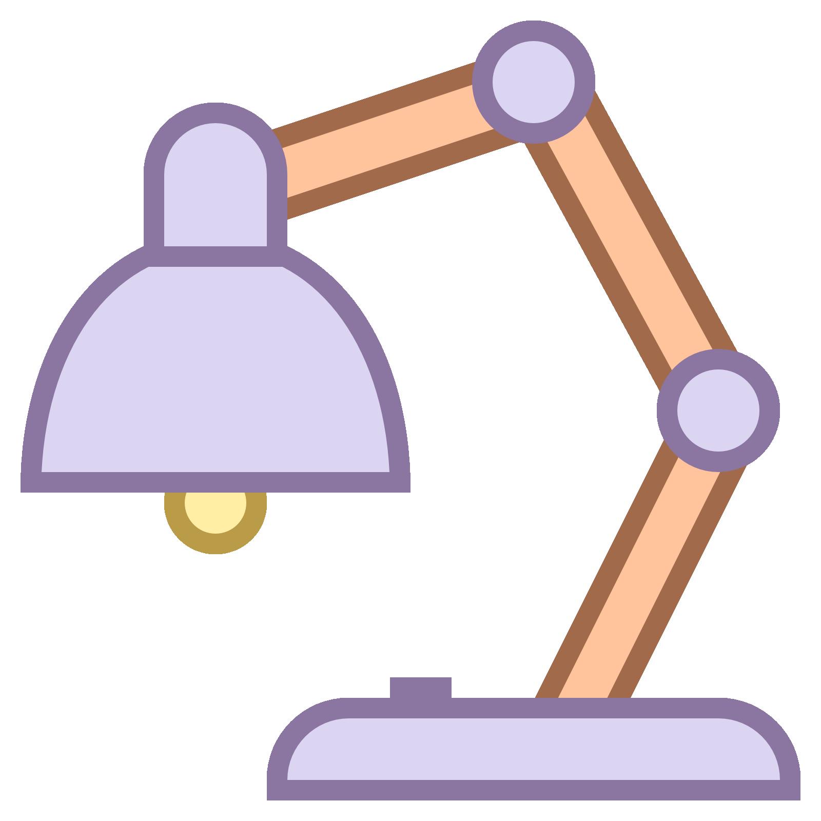 Lamp clipart furniture. Desk transparent icon web