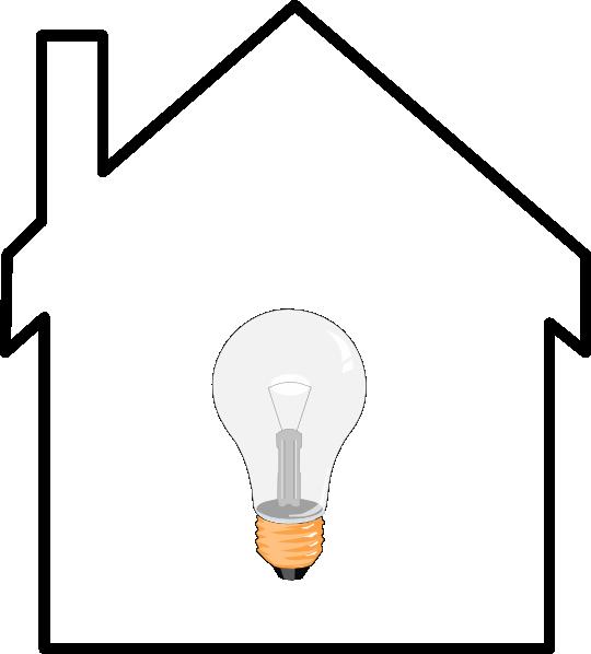 Light bulb clip art. Lamp clipart house