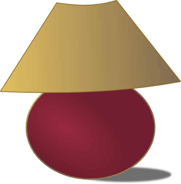 Clip art at clker. Lamp clipart house