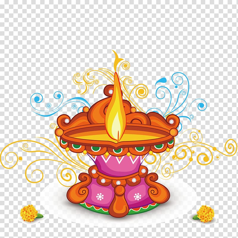 Lamp clipart indian oil. Pink and orange lantern