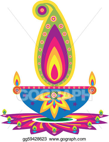 Vector art drawing gg. Lamp clipart indian oil