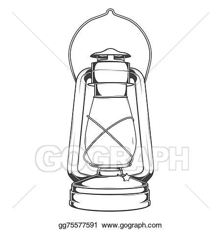 Stock illustration antique old. Lamp clipart kerosene lamp