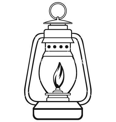 Old dusty oil vector. Lamp clipart kerosene lamp