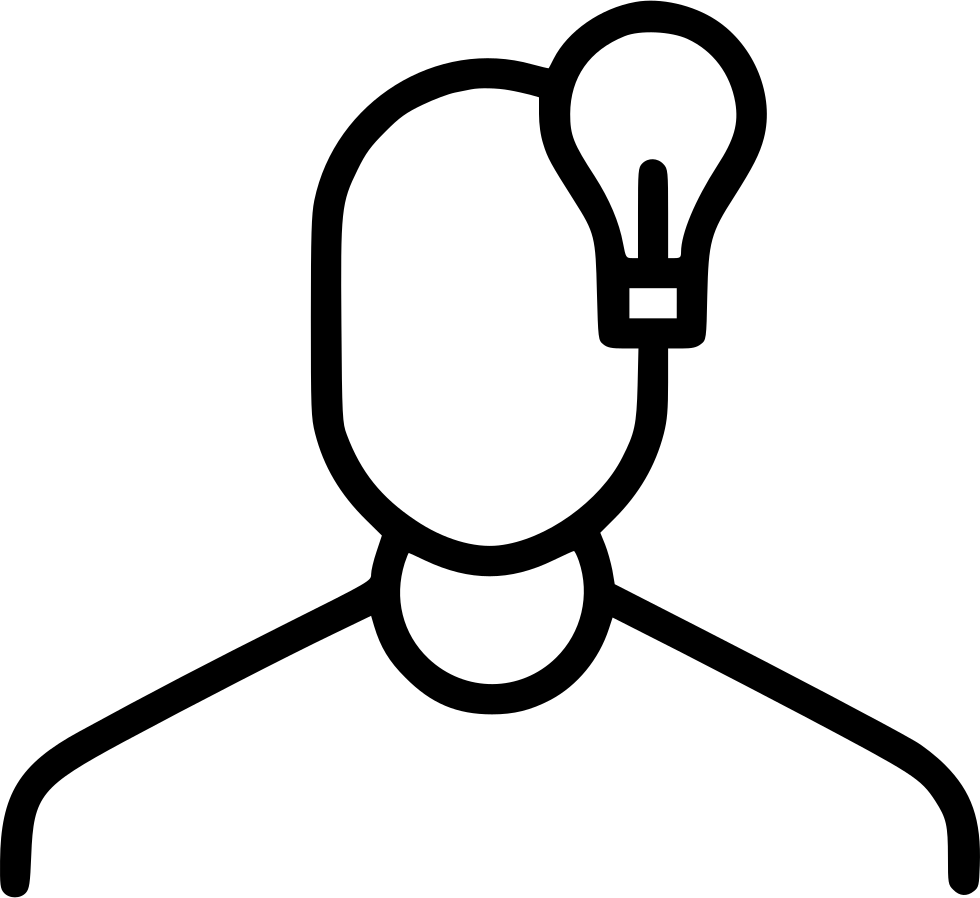 Man person idea thinking. Lamp clipart lamplight