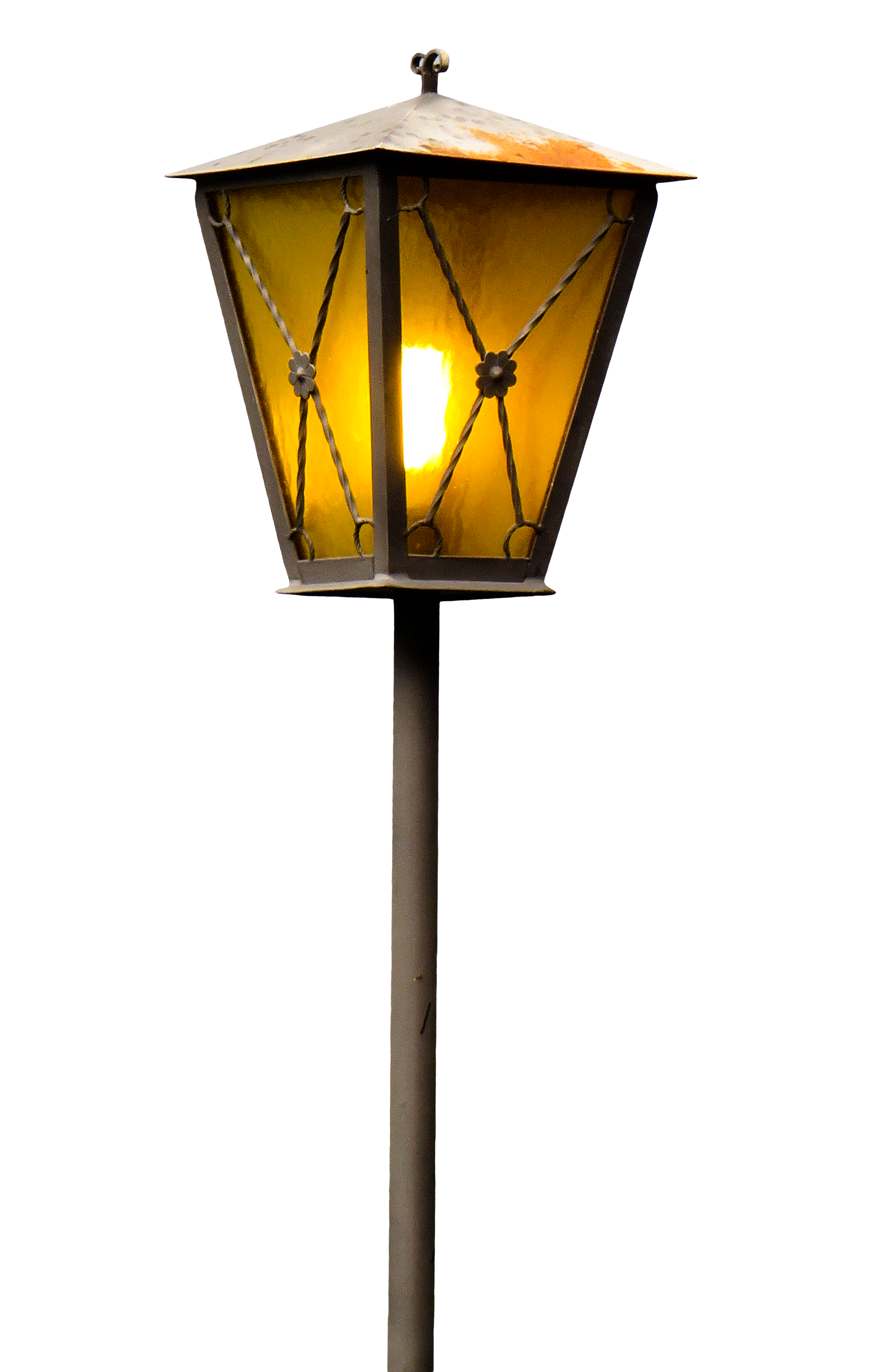 Old street png image. Lamp clipart lamplight