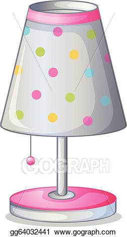 Vector stock a illustration. Lamp clipart lampshade