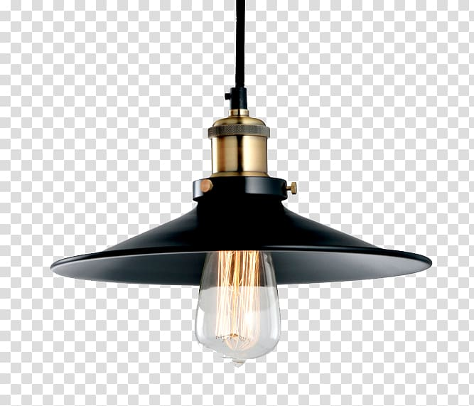 Lamp clipart lighting fixture. Black and gold pendant