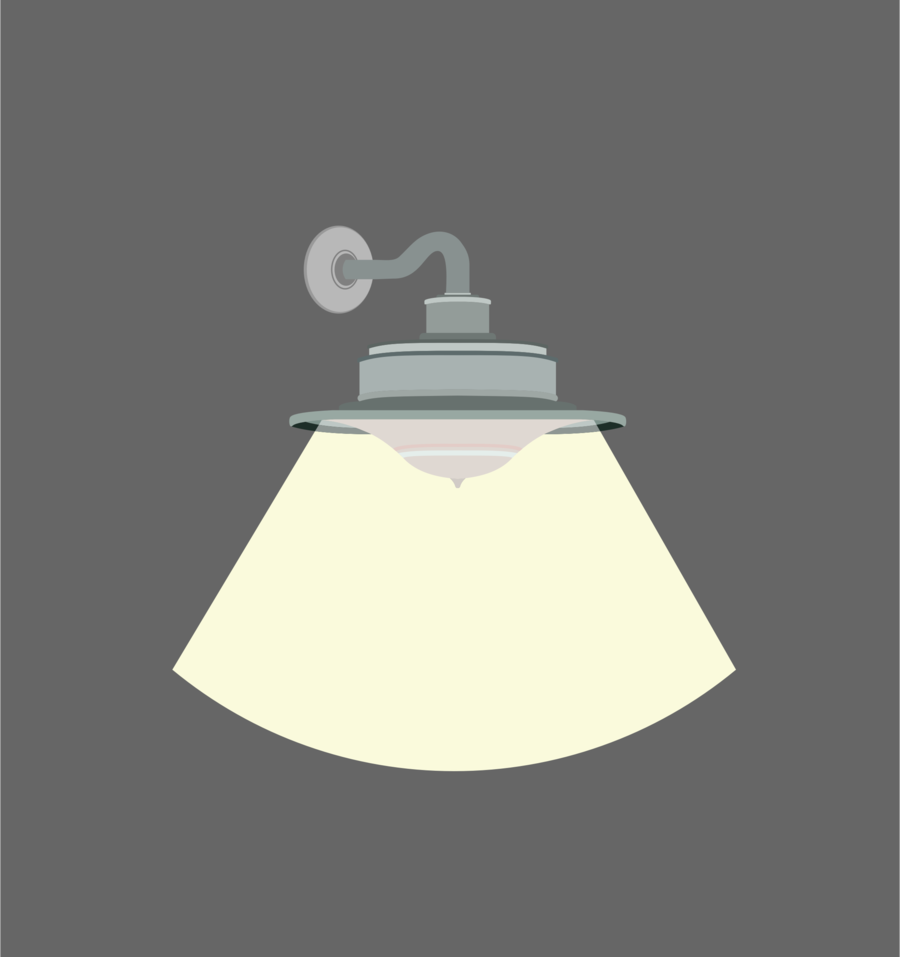 Light bulb cartoon wall. Lamp clipart lighting fixture