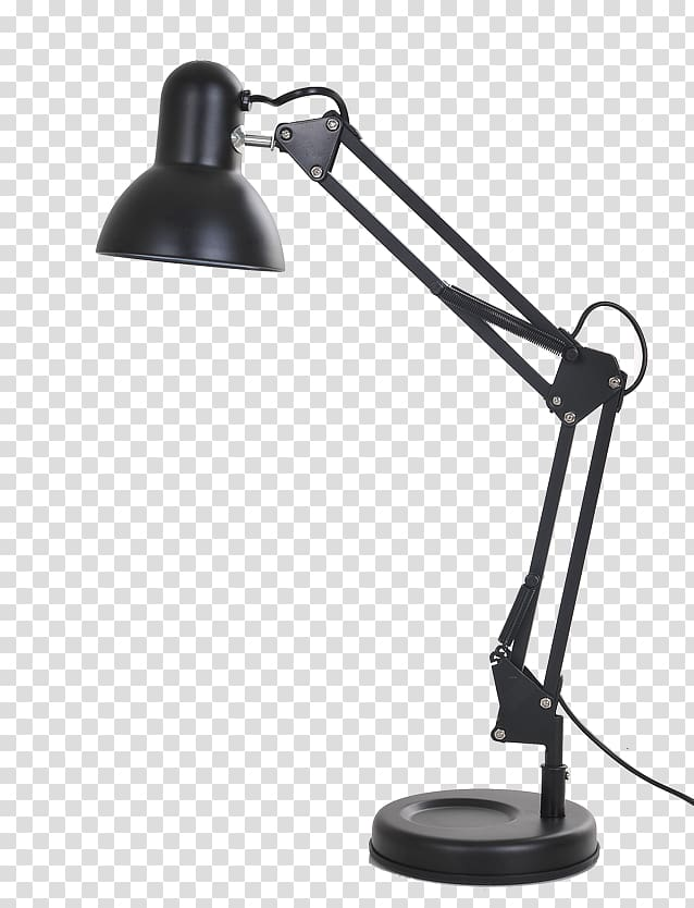 Study clipart modern study. Black reading lamp table