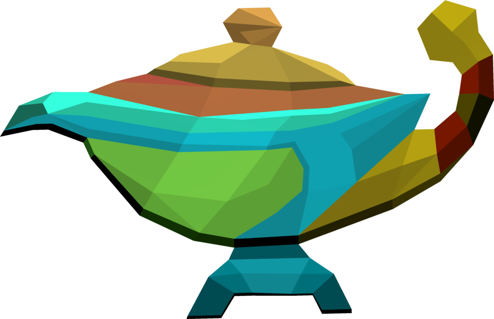 Treasure clipart prize box. Large prismatic lamp runescape