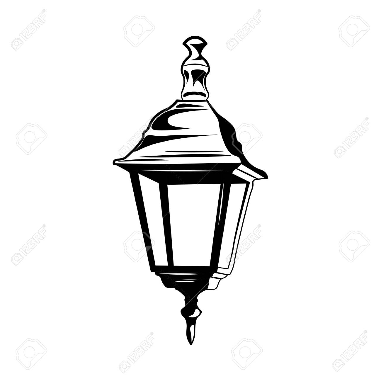 Lamp clipart old time. Free street light fashioned