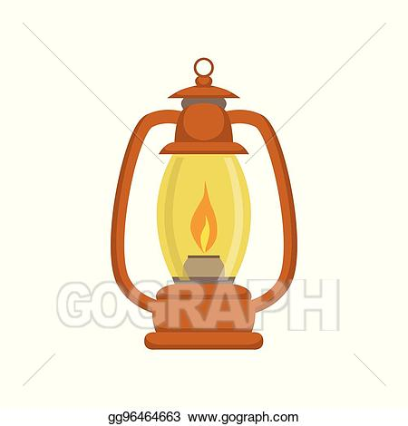 Eps illustration old school. Lamp clipart paraffin lamp