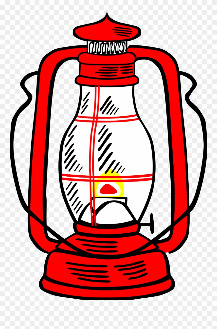 Lamp clipart paraffin lamp. Lamps kerosene red lantern