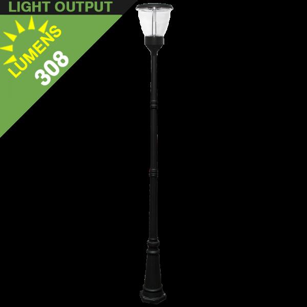 Solar led post lights. Lamp clipart park light