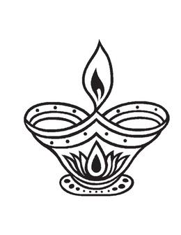 Diwali sketch at paintingvalley. Lamp clipart pradeep