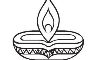 Lamp clipart prodip. Hindu deepam black and