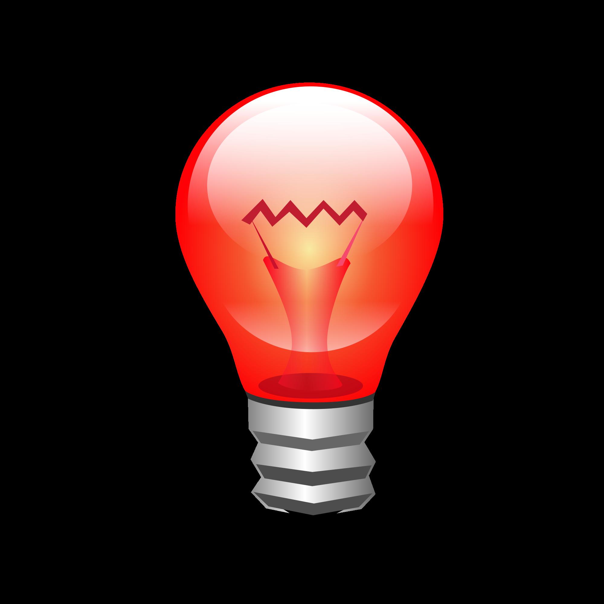 File bombilla roja edison. Lamp clipart red lamp