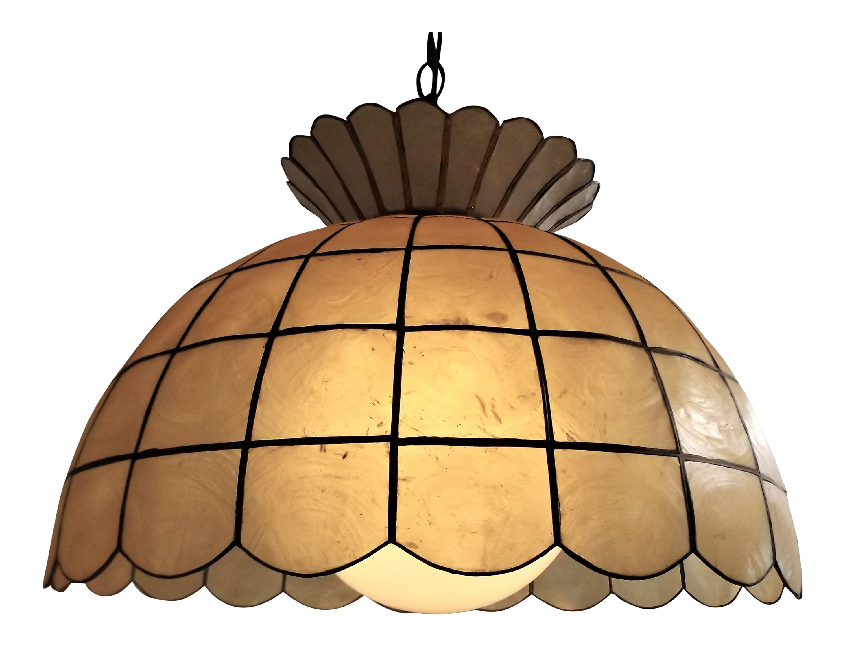 Lamp clipart sound light. Vintage capiz shell hanging