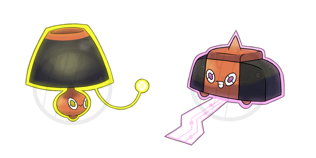Lamp clipart sound light. Rotom and tempo forms