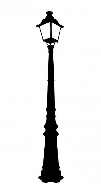 Lamp clipart streetlight. Vintage street free stock