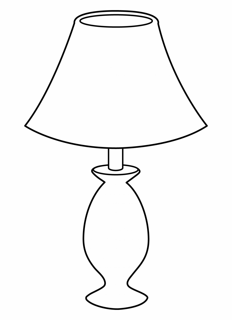 Table pencil and in. Lamp clipart tall object