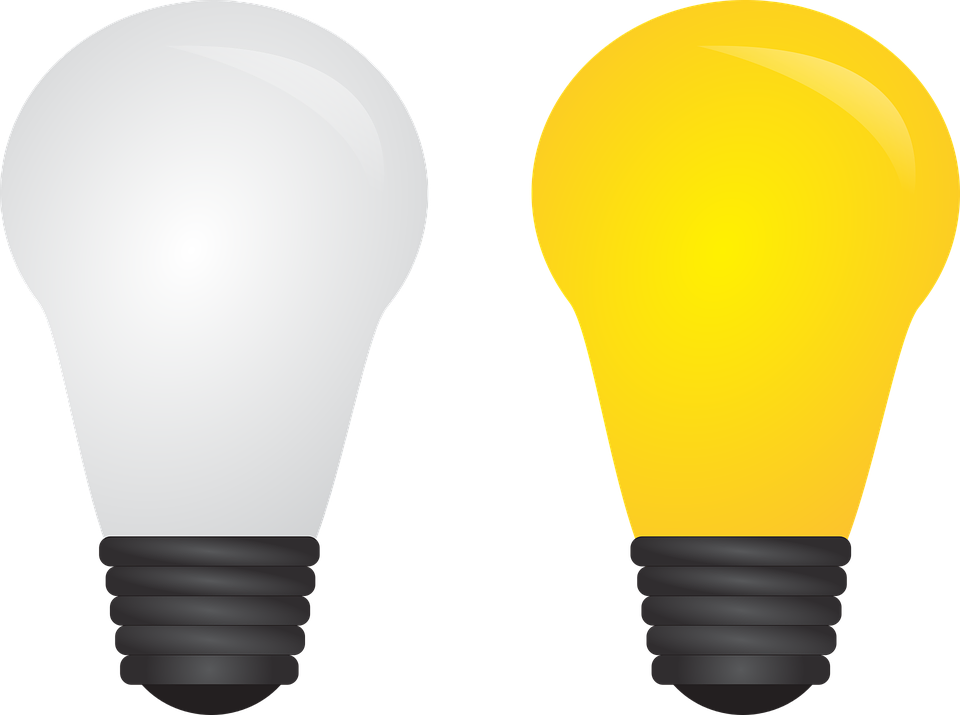 Free idea light bulb. Lamp clipart vector