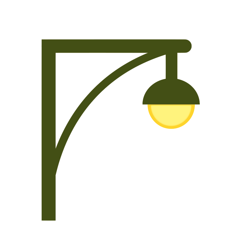Lamp clipart wall lamp. Bracket single street post