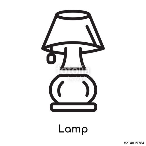Icon vector sign and. Lamp clipart white background