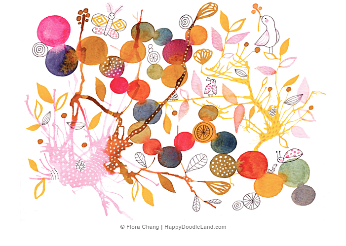 Land clipart empty garden. Paintings drawings flora chang