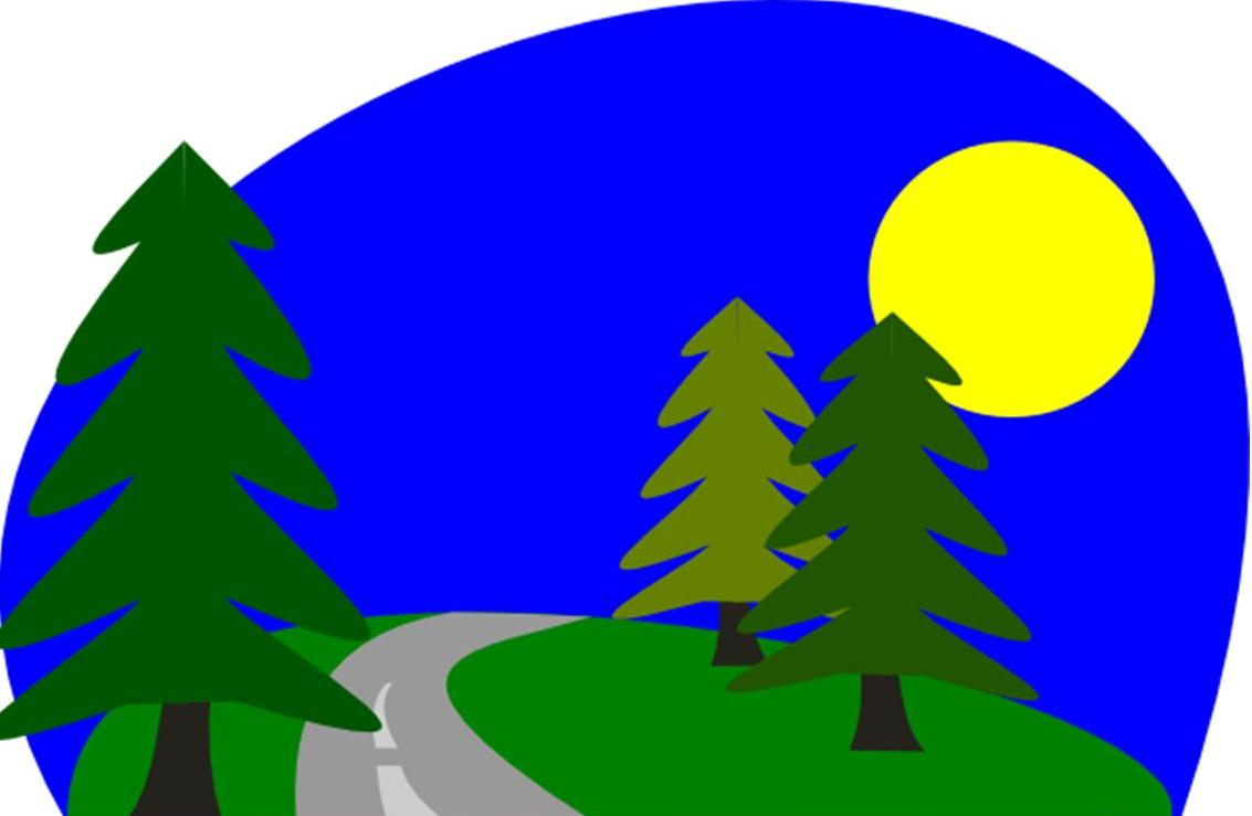 Land clipart forest way. Boise national home