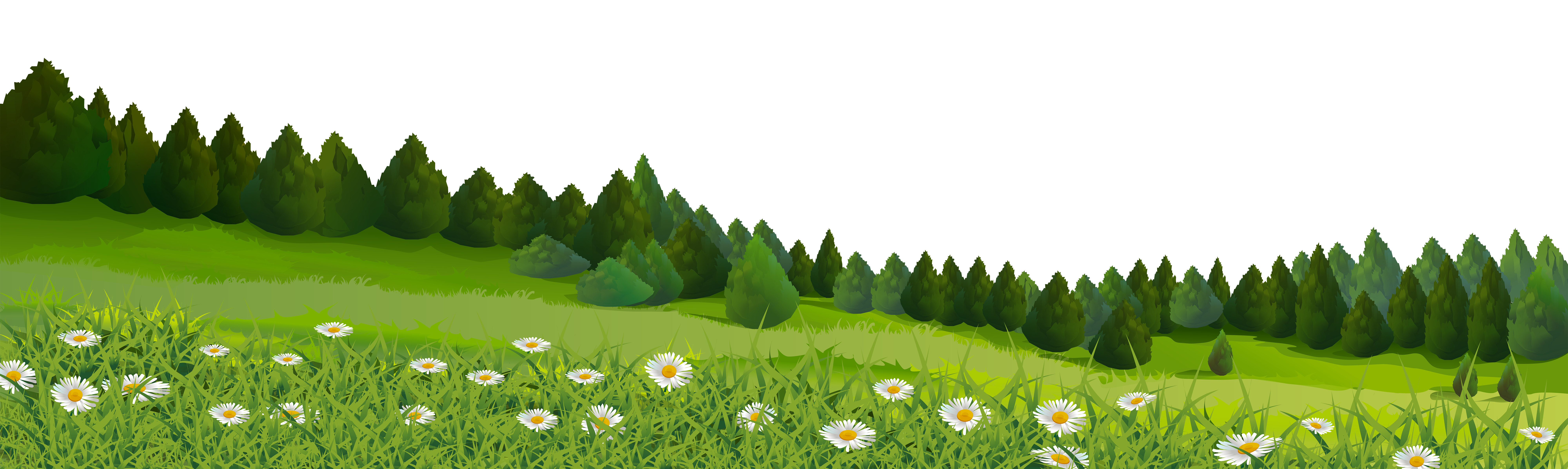 Lawn clip art trees. Land clipart grassland biome