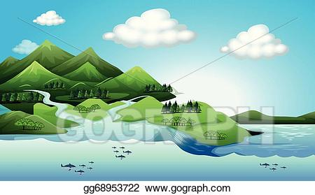 Land clipart land water. Vector illustration and resources