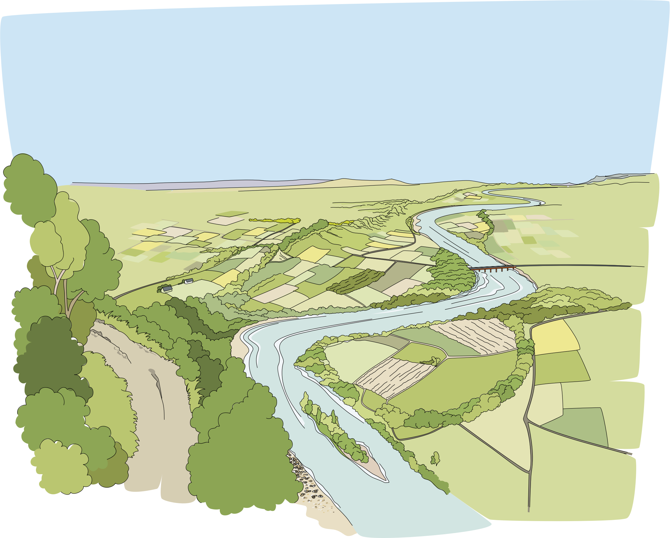 Nature clipart river. Riviere big image png