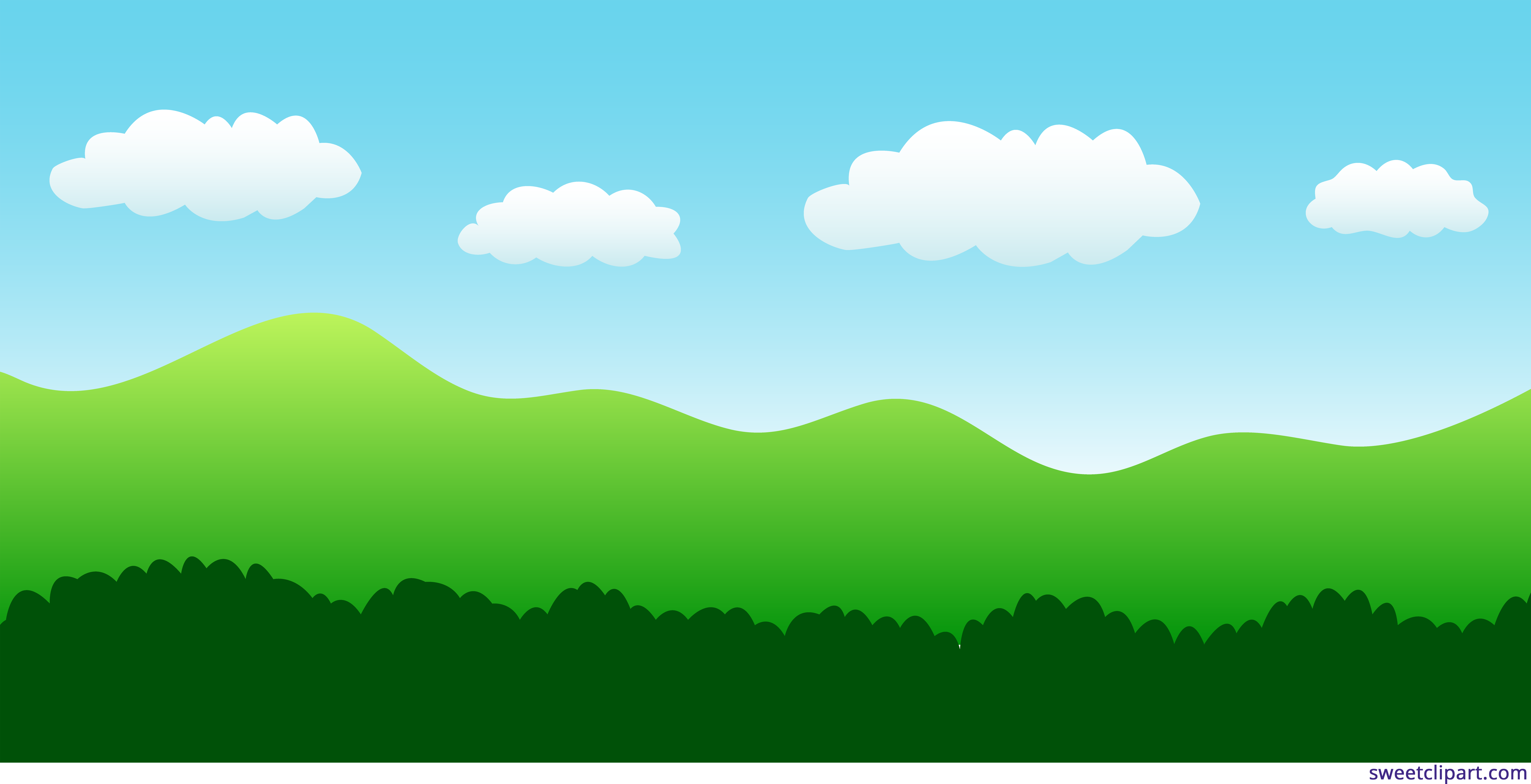 Landscape channel. Nature clipart