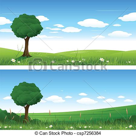 Landscape clipart. Summer pencil and in