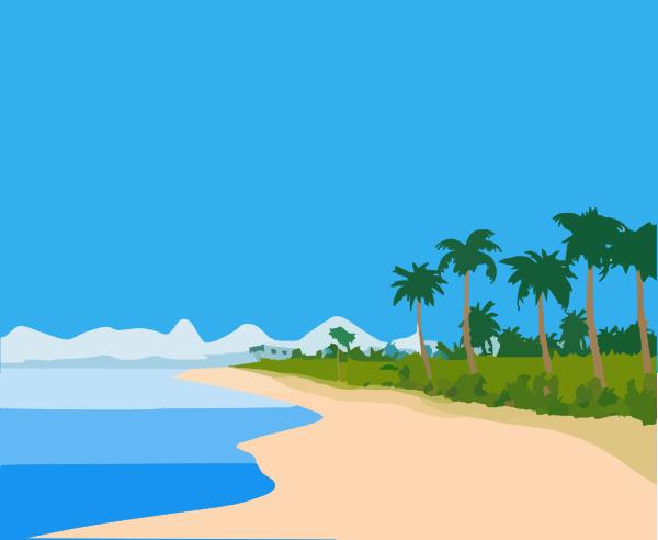 Beach clip art at. Landscape clipart