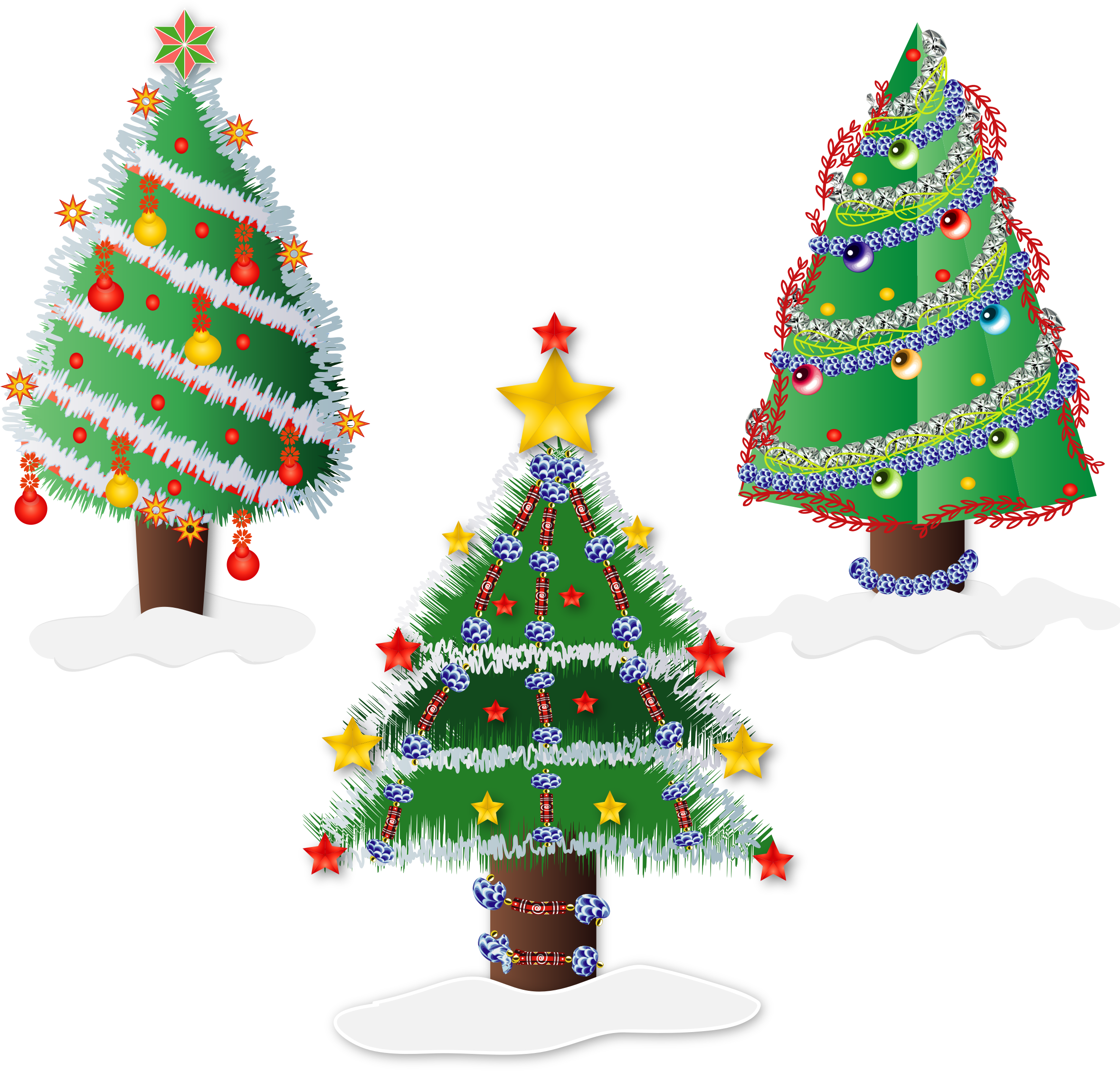 Sunny clipart christmas. Trees icons png free