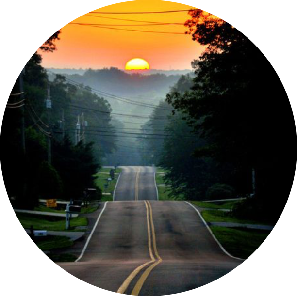 Circle icon background backgrounds. Sunset clipart road sunset