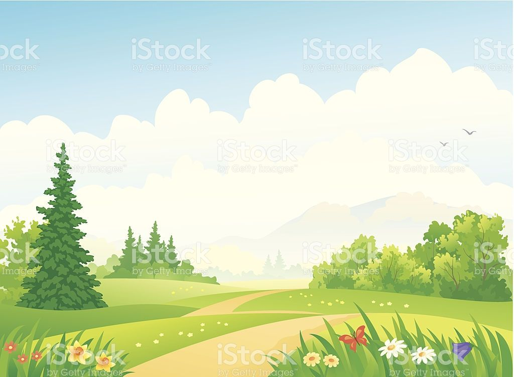 Vector illustration of a. Landscape clipart forest