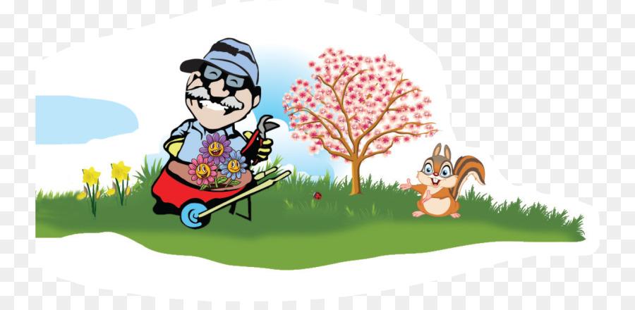 Cartoon grass garden landscape. Landscaping clipart property maintenance