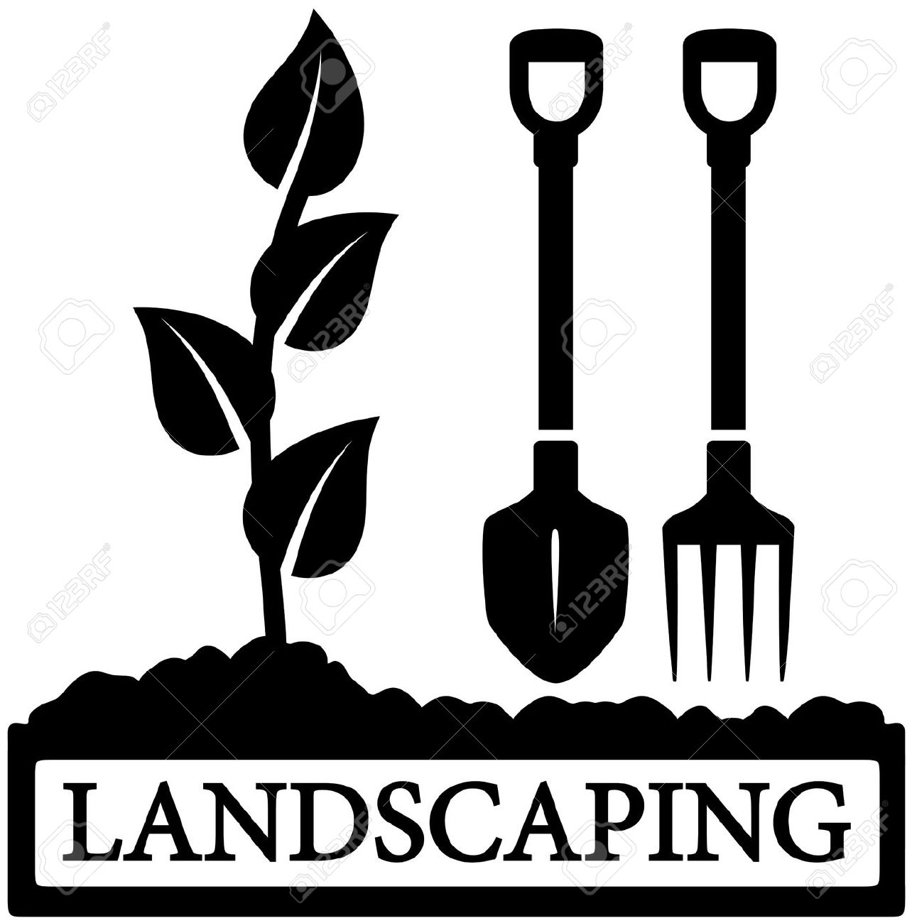 clip art clipartlook. Landscape clipart landscaping tool